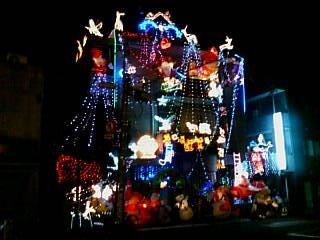 街のクリスマスイルミネーション