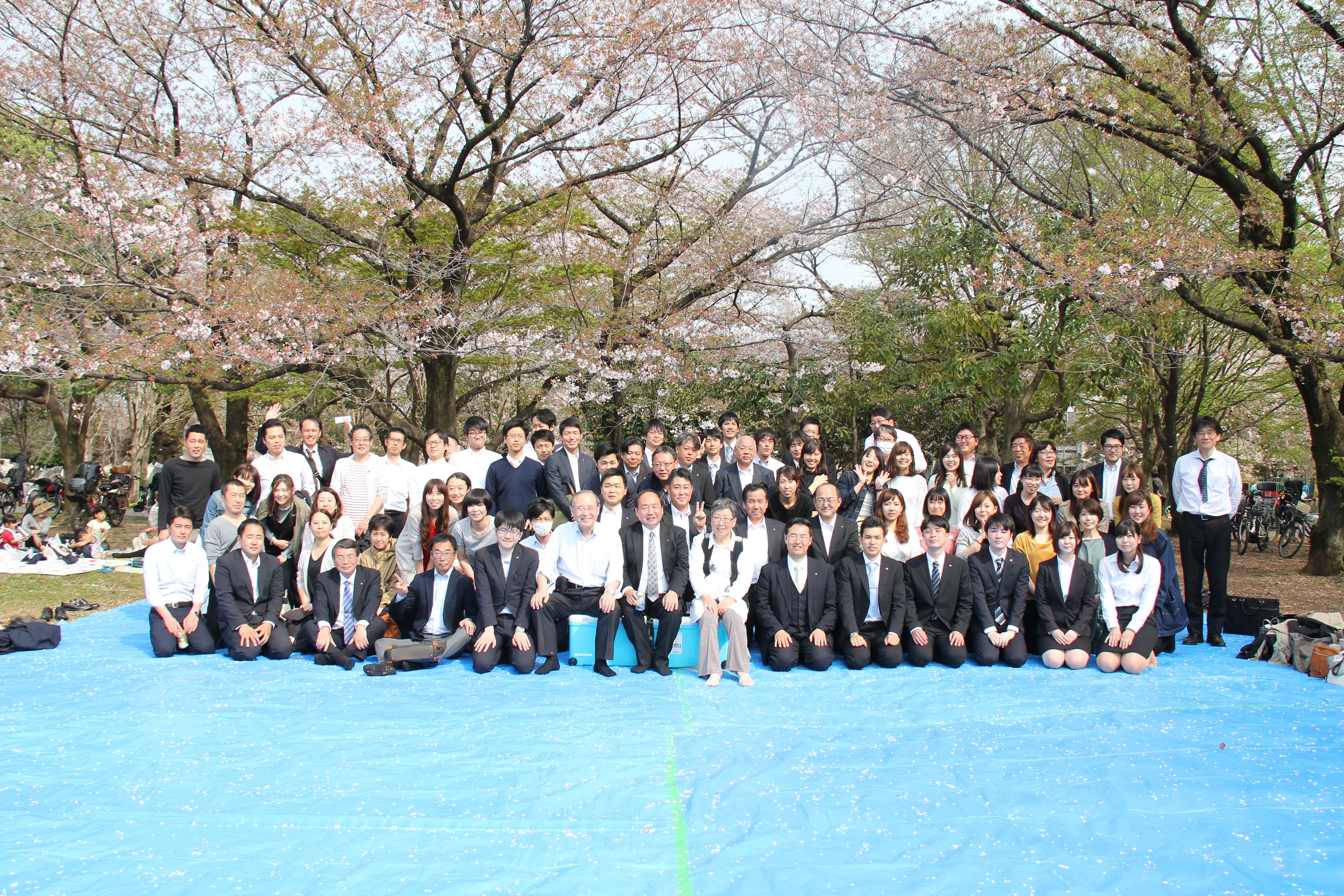 平成30年度入社式と新入社員歓迎花見会を行いました。